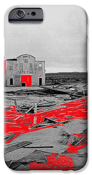 Film homage High Plain Drifter 1973 Monte Walsh set windstorm Mescal Arizona 1969-2012 iPhone Case by David Lee Guss