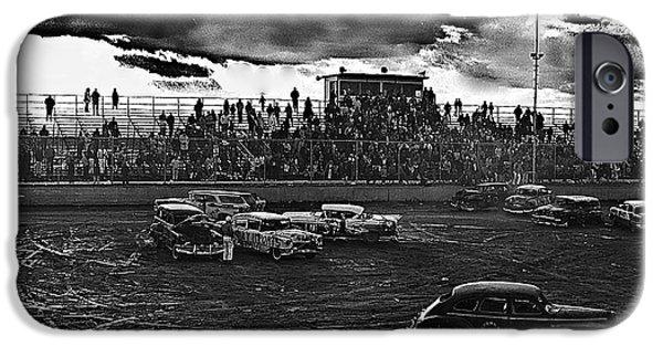 Richard Conte iPhone Cases - Film noir Robert Siodmak richard conte cry of the city 1948 1 demolition derby tucson arizona 1968 iPhone Case by David Lee Guss