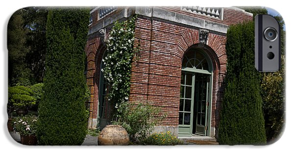 Historic Site iPhone Cases - Filoli Garden House iPhone Case by Jason O Watson