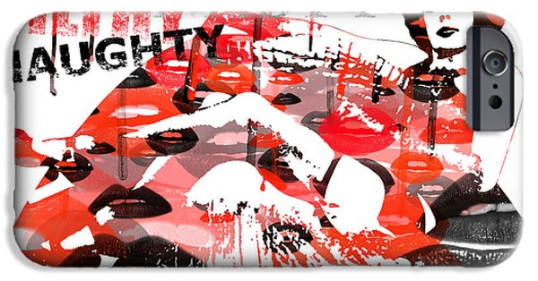 Recently Sold -  - Lips iPhone Cases - Filthy Nasty Naughty iPhone Case by Patricia Lintner