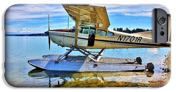 Flight iPhone Cases - Filucy Bay Airport iPhone Case by Benjamin Yeager