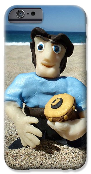 Beach Sculptures iPhone Cases - Fimo Justin in Mexico iPhone Case by Natasha Marco
