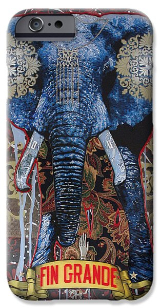 Street Mixed Media iPhone Cases - Fin Grande iPhone Case by Gary Kroman