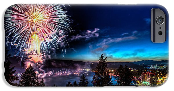 4th July iPhone Cases - Final Blast Over Coeur d Alene Lake iPhone Case by Derek Haller
