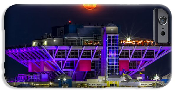 St. Petersburg iPhone Cases - Final Moon over the Pier iPhone Case by Marvin Spates