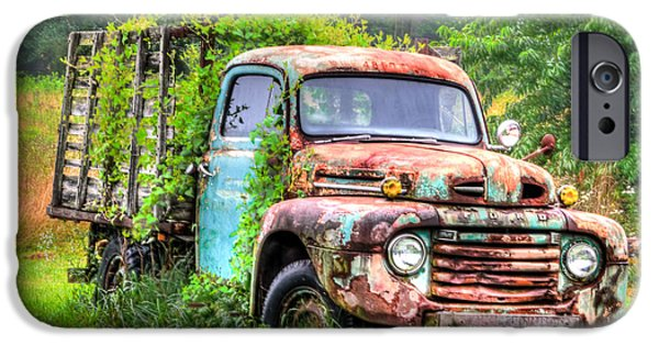 Final Resting Place iPhone Cases - Final Resting Place - Ford Truck iPhone Case by Bill Cannon