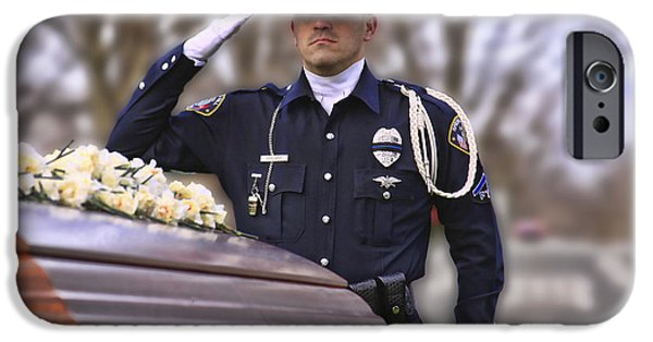 Police Officer iPhone Cases - Final Salute iPhone Case by Pic