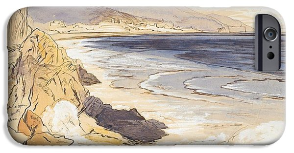 Sepia Ink Drawings iPhone Cases - Finale iPhone Case by Edward Lear