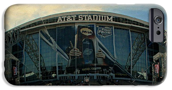 Huskies iPhone Cases - Finals Madness 2014 at ATT Stadium iPhone Case by Stephen Stookey