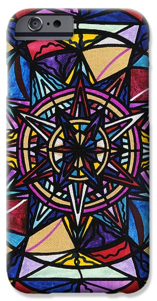 Mandalas iPhone Cases - Financial Freedom iPhone Case by Teal Eye  Print Store