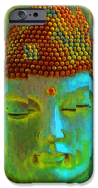 Buying Online Digital iPhone Cases - Finding Buddha - Meditation Art By Sharon Cummings iPhone Case by Sharon Cummings