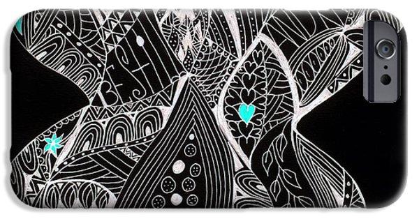 Inner World iPhone Cases - Finding My Soul iPhone Case by Nancy TeWinkel Lauren