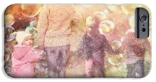 Bonding Paintings iPhone Cases - Finding Neverland iPhone Case by Mo T