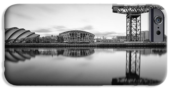 White River Scene Photographs iPhone Cases - Finnieston Crane Glasgow iPhone Case by John Farnan