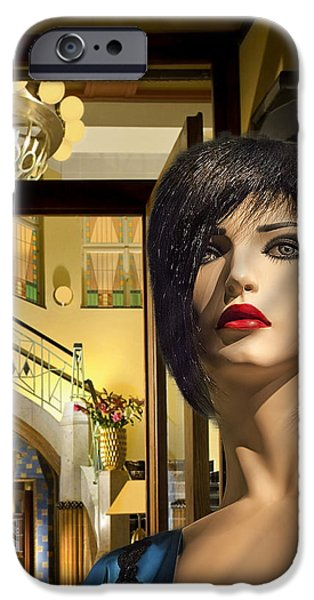 Staley Mixed Media iPhone Cases - Fiona Arrives in Prague iPhone Case by Art Deco Designs