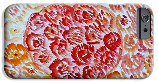 Bonding Paintings iPhone Cases - Fioritura amore iPhone Case by Sonali Gangane