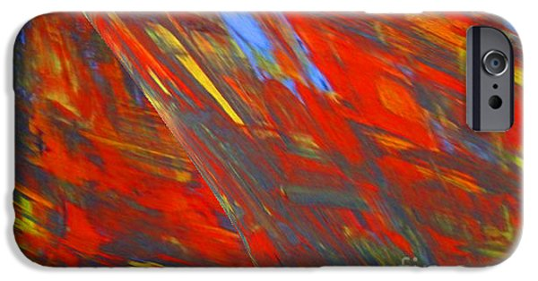 Colorful Abstract Ceramics iPhone Cases - Fire and eis iPhone Case by Gabriele Mueller