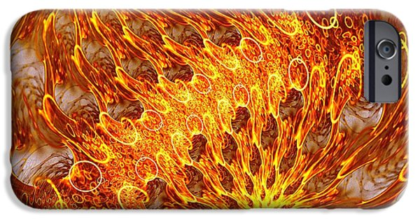 Connection iPhone Cases - Fire and Flames iPhone Case by Anastasiya Malakhova