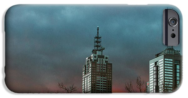 Winter Storm iPhone Cases - Fire and Ice iPhone Case by Andrew Paranavitana