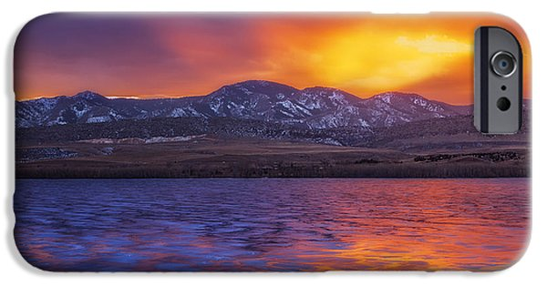 Frozen Lake iPhone Cases - Fire and Ice iPhone Case by Darren  White