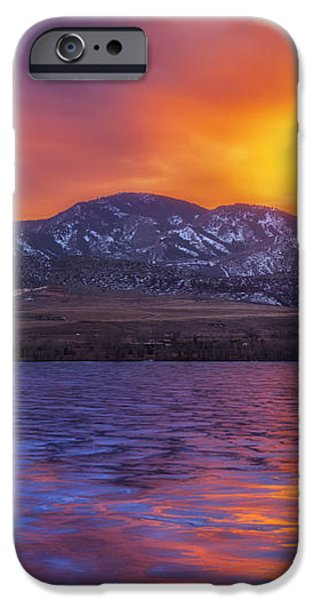 Fire and Ice iPhone Case by Darren  White