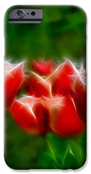 Fire and Ice Fractal Triptych iPhone Case by Peter Piatt