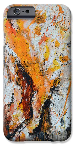 Gruenwald iPhone Cases - Fire and Passion - Abstract iPhone Case by Ismeta Gruenwald