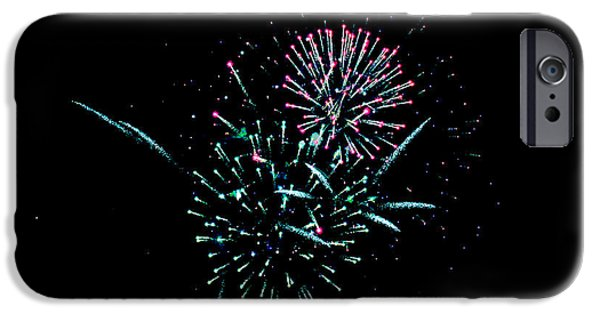 July iPhone Cases - Fire Balls FW iPhone Case by Teresa Blanton