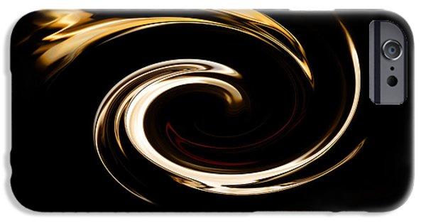Abstract Digital Photographs iPhone Cases - Fire Bird iPhone Case by Scott Pellegrin