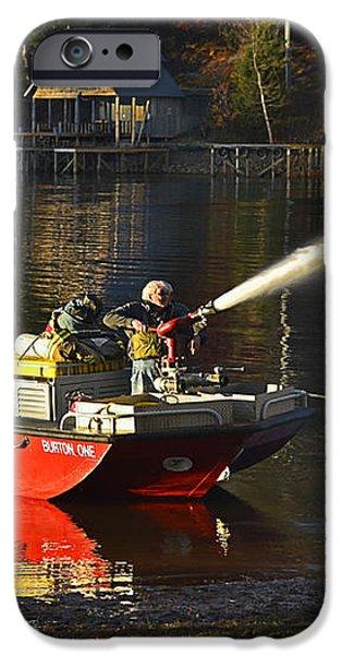 Fire Boat iPhone Case by Susan Leggett