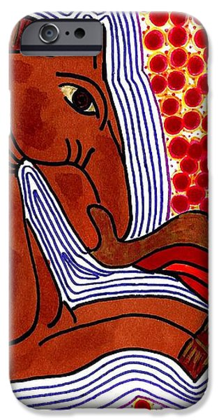Fire Breathing Horse iPhone Case by Sarah Loft
