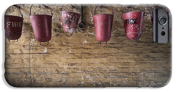 Walls iPhone Cases - Fire Buckets iPhone Case by Svetlana Sewell