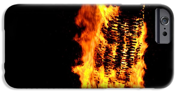 Fireball iPhone Cases - Fire iPhone Case by Chevy Fleet