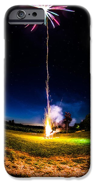 4th Of July iPhone Cases - Fire Cracker Palm Tree iPhone Case by Abraham Farrar