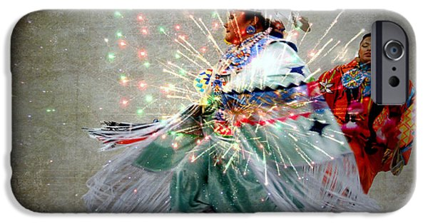 4th July Digital Art iPhone Cases - fire Dance iPhone Case by Irma BACKELANT GALLERIES