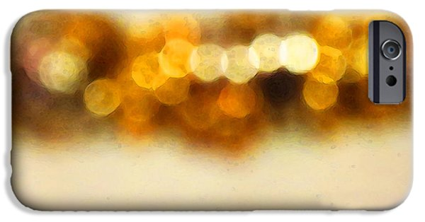 Buying Online Digital Art iPhone Cases - Fire Dance - Warm Sparkling Abstract Art iPhone Case by Sharon Cummings