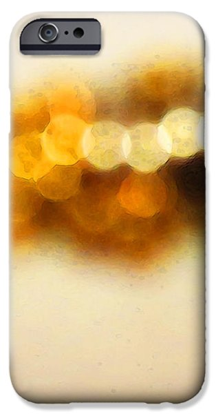 Fire Dance - Warm Sparkling Abstract Art iPhone Case by Sharon Cummings
