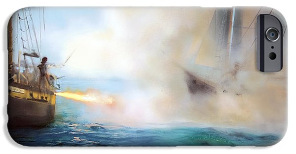 Pirate Ship iPhone Cases - Fire iPhone Case by Donna Lee Nyzio