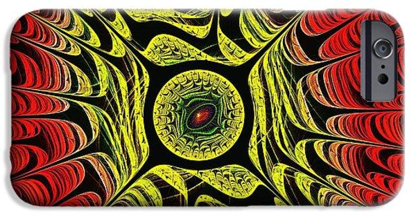 Mythology iPhone Cases - Fire Dragon Eye iPhone Case by Anastasiya Malakhova