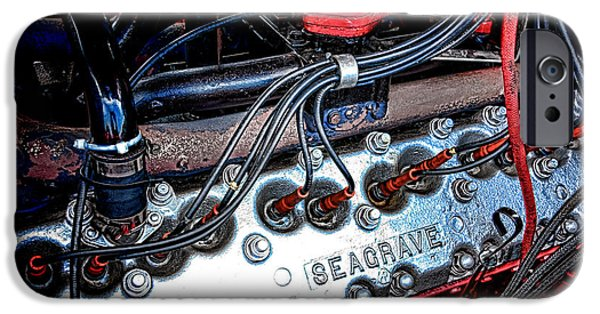 Rebuilt iPhone Cases - Fire Engine Engine iPhone Case by Olivier Le Queinec