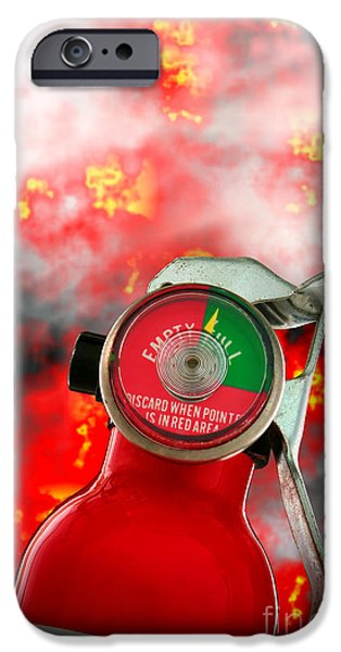 Inferno iPhone Cases - Fire Extinguisher  iPhone Case by Olivier Le Queinec