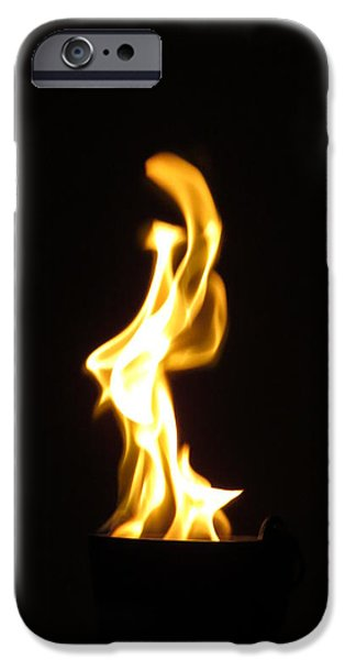 Faries iPhone Cases - Fire Fairy iPhone Case by Michelle Milano