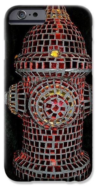 Dog Glass iPhone Cases - Fire Hydrant Art iPhone Case by Susan Herber