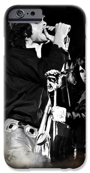 Fire In A Storm  Jim Morrison iPhone Case by Iconic Images Art Gallery David Pucciarelli