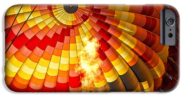 Hot Air Balloon iPhone Cases - Fire In Belly iPhone Case by Timothy Hacker