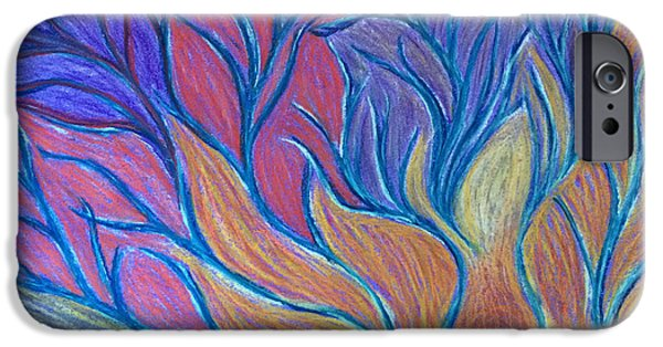 Spiritual Pastels iPhone Cases - Fire in the Belly iPhone Case by Jamie Rogers