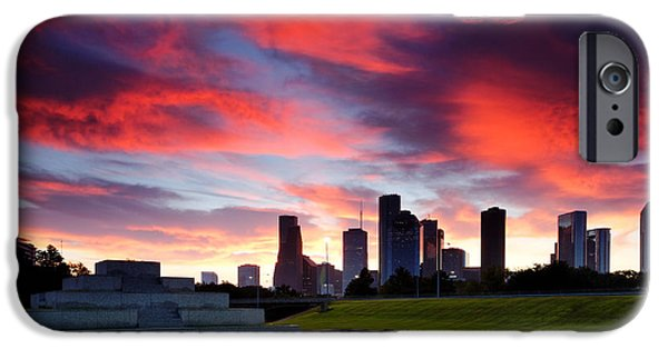 Police Art iPhone Cases - Fire in the Houston Sky iPhone Case by Silvio Ligutti
