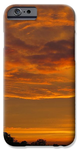 Fire in the Sky iPhone Case by Ann Horn