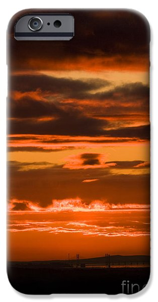 Fire in the Sky iPhone Case by Anne Gilbert