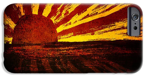 Hattiesburg iPhone Cases - Fire in the Sky iPhone Case by Brenda Bryant